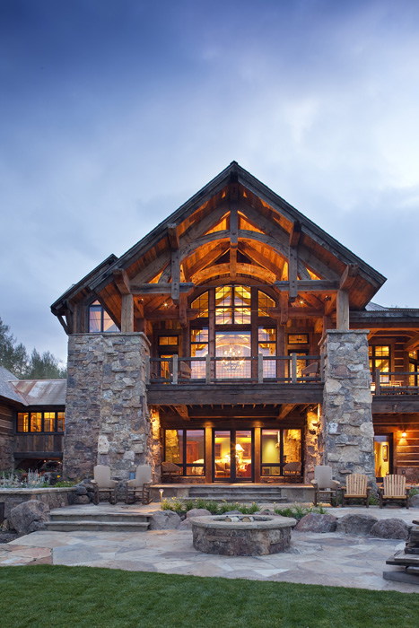 Cb residence reserve sunlit architecture for Mountain lodge architecture